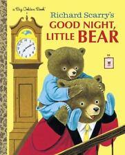 Big Golden Book: Richard Scarry's Good Night, Little Bear c2014 NEW Hardcover
