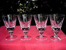 SAINT LOUIS JERSEY 4 WINE GLASSES VERRES A VIN PAQUEBOT FRANCE CRISTAL TAILLÉ B