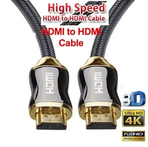 Gold Plated HDMI Cable Premium Ultra HD v2.0 High Speed 18.6Gbps 2160p 4K 3D AUS
