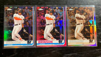 Lewis Brinson 2019 Topps Chrome #122 Refractor Lot(3) Miami Marlins