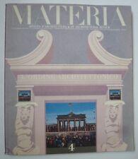 Materia - rivista d'architectura - L'ordine architettonico - n°4 - 1990