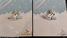 2022 OLYMPIC WINTER GAMES BEIJING APPLICANT CITY GOLD & SILVER 2 PINS VERY RARE