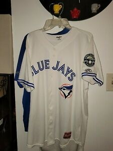BLUEFIELD BLUE JAYS GAME USED WORN HOME JERSEY RAWLINGS APPY LEAGUE SIZE 46