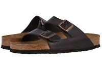 Birkenstock Arizona Amalfi Soft Footbed Unisex Sandal Brown Amalfi Leather