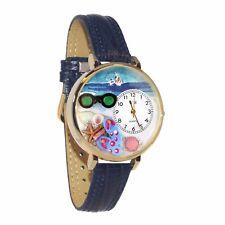 Dark Blue Leather Watch Whimsical Watches Women's G-1210015 Flip-flops