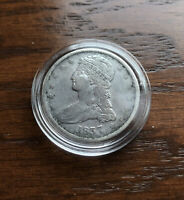 1838 SILVER CAPPED BUST  HALF DOLLAR IN TOP CONDITION. SUPER RARE!