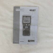 AEMC Instruments 6527 MEGOHMMETER User Manual