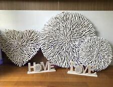 White heart Driftwood Wall Art 75*65*9 cm