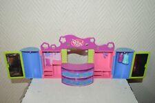 POLLY POCKET DRESSING GARDE ROBE  MATTEL  VINTAGE 2004 AVEC 2 ROBES HOUSE
