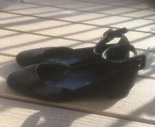 Stuart Weitzman Domain Ankle Strap Suede Ballet Flats Shoes 9M