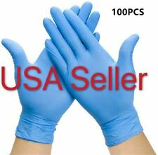 100 Pcs [Select M .L.XL] Nitrile Disposable Gloves Food Grade Gloves Latex Free