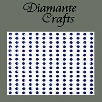 195 x 3mm Dark Blue Diamante Self Adhesive Rhinestone Body Vajazzle Gems