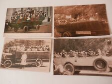 Collection x 4 Old Charabanc Postcards.Unused. Pyrenees, Goughs Caves,Chedder