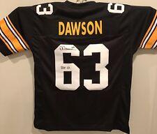 DERMONTTI DAWSON STEELERS Autographed Custom Jersey JSA COA HOF