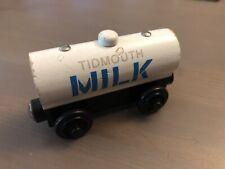 Thomas & Friends Wooden Railway TIDMOUTH MILK TANKER Train Toy *