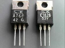 1 pair of complementary 2SA768 PNP & 2SC1826 NPN Sanken transistors TO-126