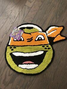 Nickelodeon Teenage Mutant Ninja Turtle Bath Rug Michelangelo Brand New