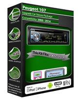 Peugeot 107 reproductor de CD, unidad principal Pioneer Reproduce Ipod Iphone Android Usb Aux