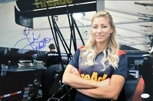 Leah Pritchett Top Fuel dragster Signed 12x18 Glossy Photo JSA Authenticated