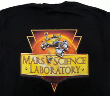 MARS SCIENCE LABORATORY CURIOSITY ROVER BLACK T SHIRT MEDIUM JPL NASA  NEW