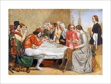 Millais - Lorenzo & Isabella dining dogs fine art print poster - various sizes