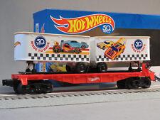 LIONEL HOT WHEELS 50th ANNIVERSARY FLATCAR TRAILERS O GAUGE train 6-84707 NEW