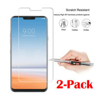 2X 9H+ Premium Tempered Glass Film Screen Protector Cover For LG G7