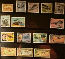 Spain Aircraft & Aviation Stamps Lot of 15 - MNH -See Details for List