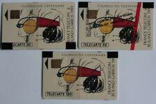 Télécartes à puce France Roland Garros NSB 1991 F152 F152A F153 (55356)