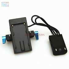 LP-E6 Dummy Battery+F970 Power Supply Plate Mount+15mm Rod Clamp 4 Canon 5D2 5D3