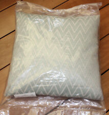 L'Avenue Herringbone Green 43cm x 43cm Filled Decorative Cushion Filled New