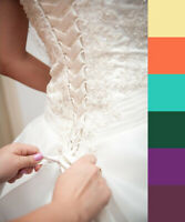 Replacement Satin Lace Up Coloured Ribbons for Wedding Dress Corset 2cm x 3.5m