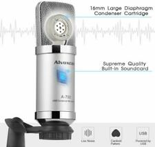 Music Recording Microphone  Desktop Tripod Stand Condenser Mic Podcasting