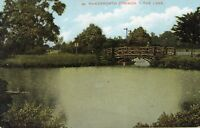 LONDON - Wandsworth Common - The Lake - Original Vintage Postcard (96L)