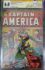 CAPTAIN AMERICA COMICS #10 CGC 6.0 Signed By Jack Kirby & Stan Lee! 1 OF A KIND