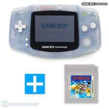 GameBoy Advance Konsole transparent blau / clear blue + SUPER MARIO LAND 1 Spiel