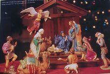 Franklin Mint The Nativity + Stable By Gianni Benvenuti Mib $1260 In 1989 + Coa