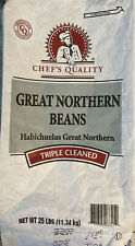 GREAT NORTHERN BEANS (Non-GMO,Kosher) BULK CHEF'S QUALITY TRIPLE CLEAN (VAR)