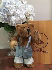Vintage Bonita Bear C. Owen w/ Wood Box by Applause EUC