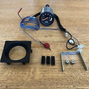 Volvo 240 Small Tachometer w/ Install Kit Tach Gauge 52mm OEM 242 245 IPD Turbo