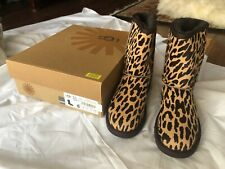 New Womens Coach Tan Brown Allen Calf Hair Boots Animal Zip