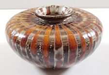 "Rare 7"" Black Ryden Moorcroft Anita Harris 2002 Slip Ware Glaze Stoneware Vase"