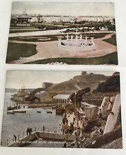 Davenport Mount Wise 2 Postcard United Kingdom England Old Vintage Card View Lot