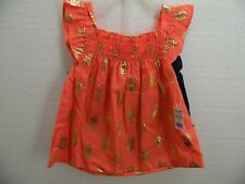 NEW BABY GIRLS OUTFIT PINK TOP+DENIM SHORTS  24 MONTHS PARK BENCH KIDS BRAND J22
