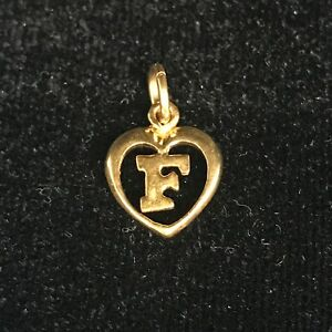 NEW 9ct Yellow Gold Solid Initial F Pendant 375 Letter Charm 9K Alphabet Name
