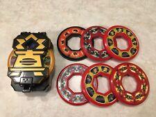 Bandai Power Rangers Samurai Black Box Morpher With 7 Disc Spinners