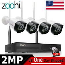 ZooHi 1080p Home Security Camera System Wireless Outdoor Cctv 4Ch Hdmi Nvr 1Tb