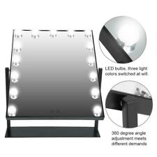 15 Led Light Vanity Makeup Mirror Touch Screen Lighted Desktop Tabletop Cosmetic