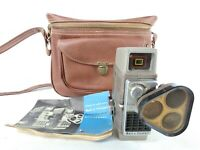 Bell & Howell Electric Eye Tri Lens Turret 8mm Camera w Manual & Pleather Bag