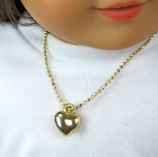 Lovvbugg Gold Heart Necklace for American Girl doll Clothes Best Selection